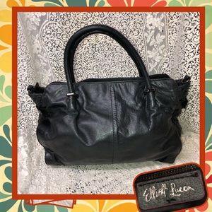 Elliott Lucca Black Leather Handbag GOOD CONDITION